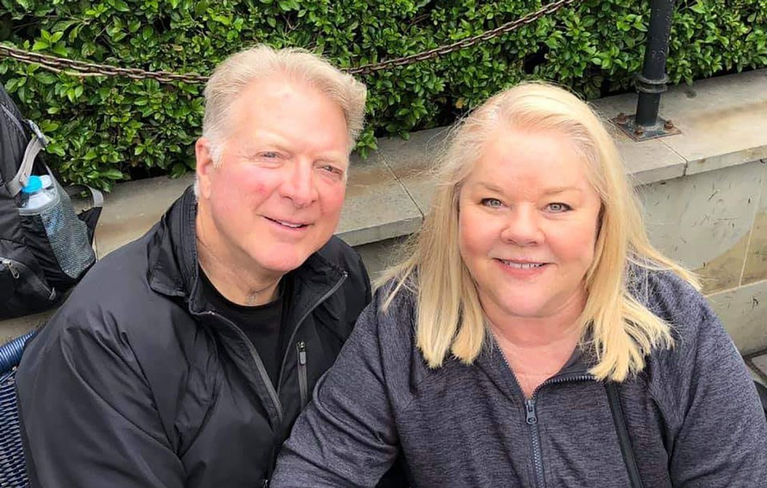 Gary and Joan Whitaker on vacation