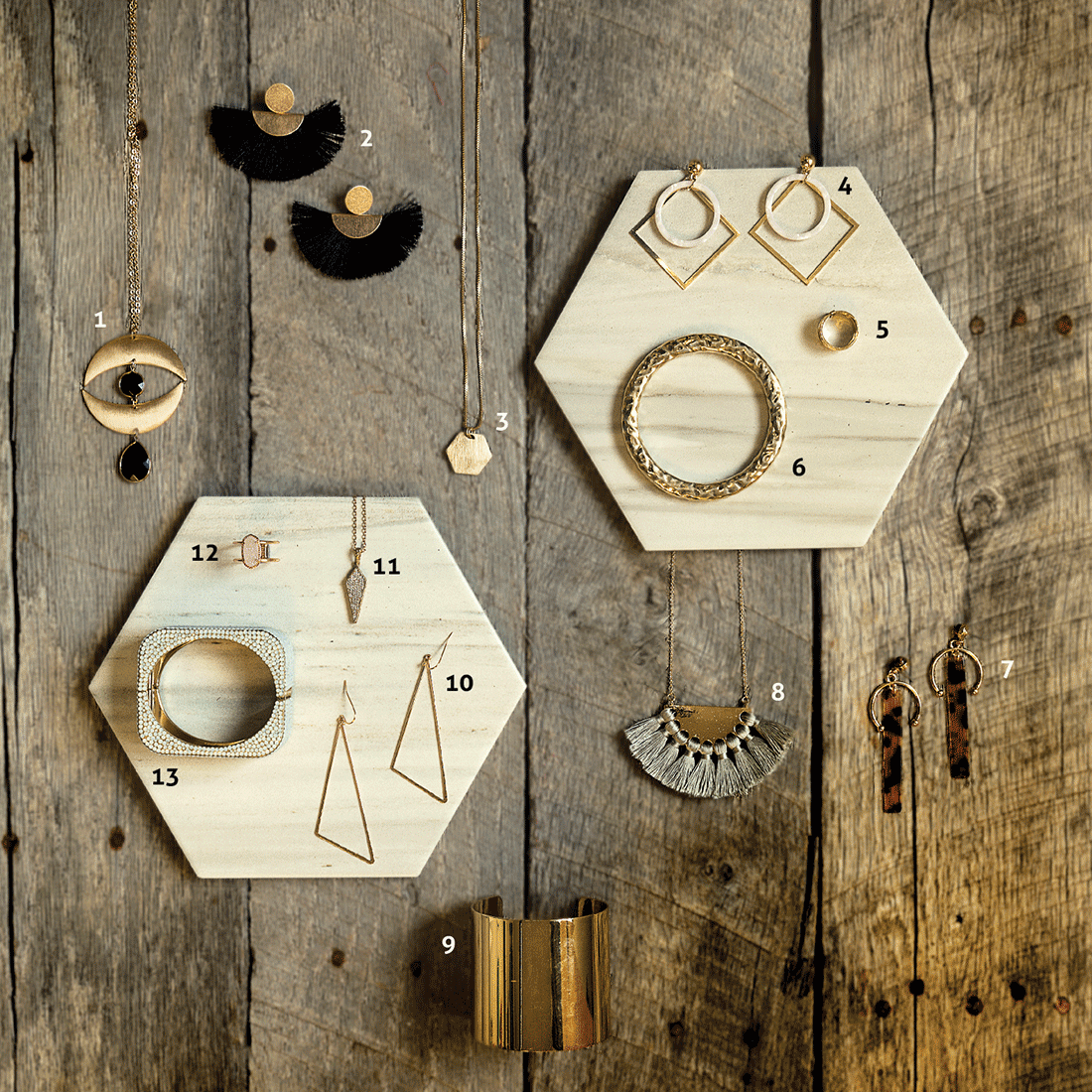Geometric Jewelry Dazzles