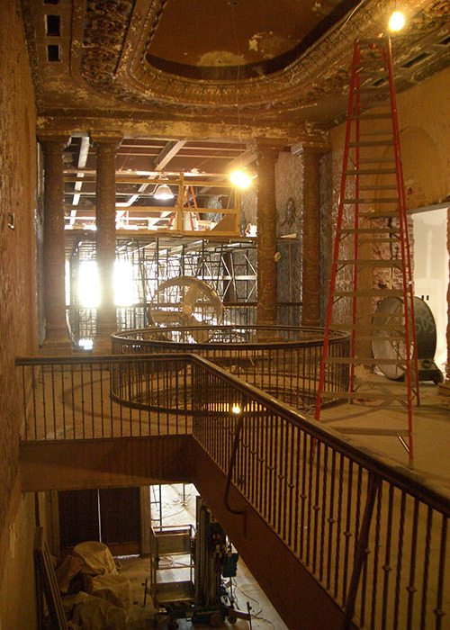 Second floor of Historic Gillioz Theatre being restored