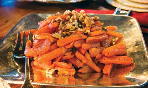Glazed Carrots With Walnuts