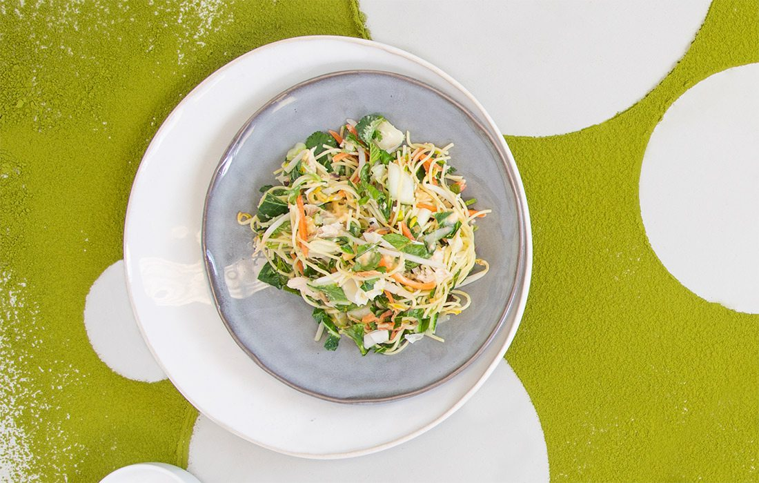 Thai Noodle Salad with Roasted Ramps