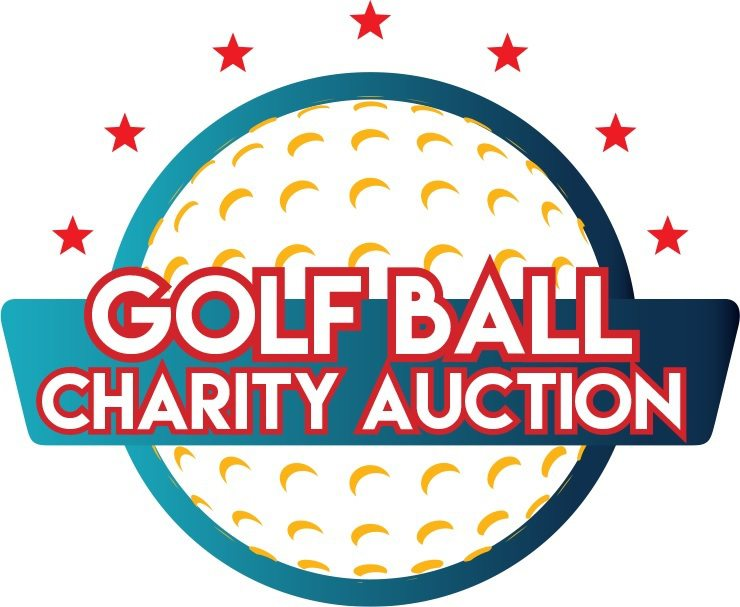 golf ball and charity auction logo