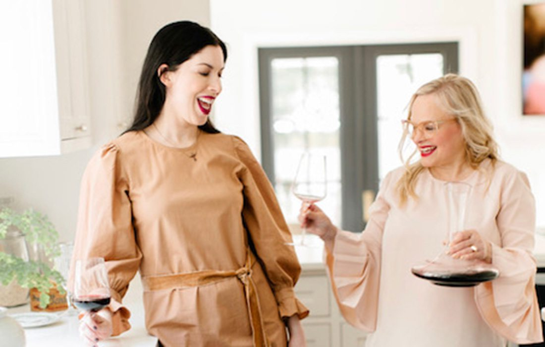 Courtney Dunlop and Elle Feldman of Good Skin Day and Good Clean Wine