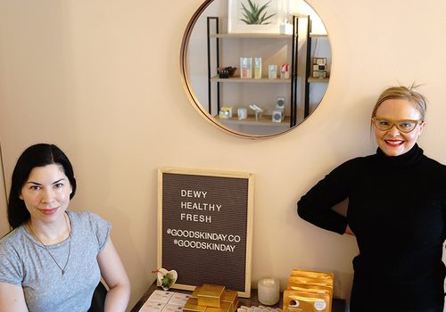 Courtney Dunlop and Elle Feldman at Good Skin Day
