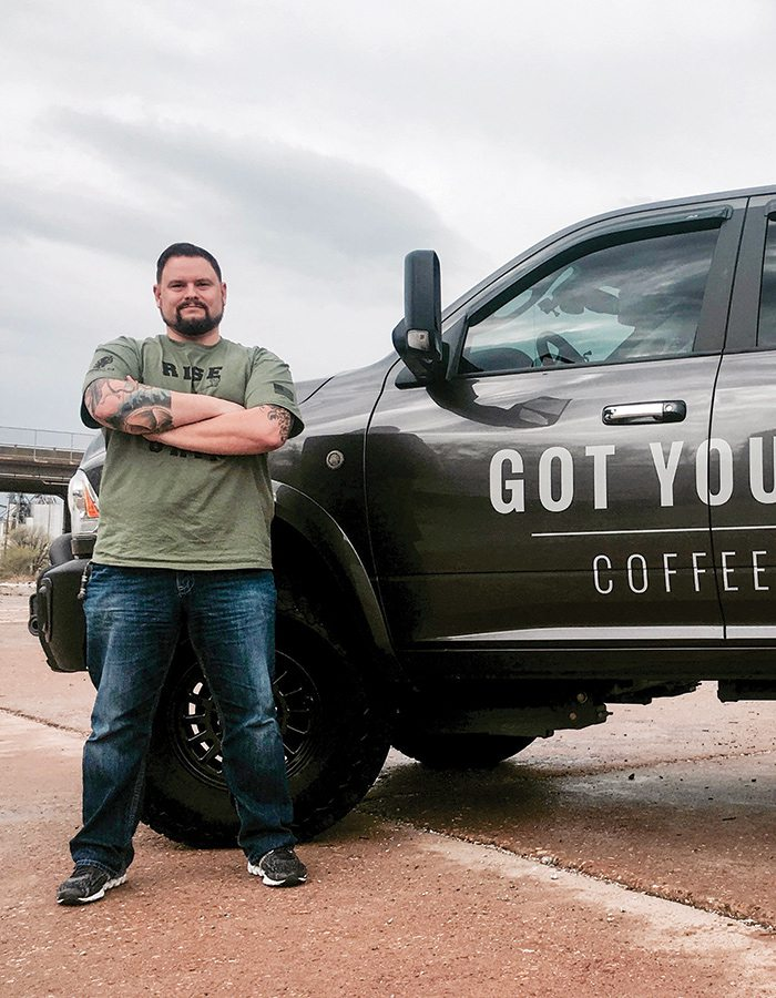 Eric Hadley, owner of Got Your Six Coffee Co.