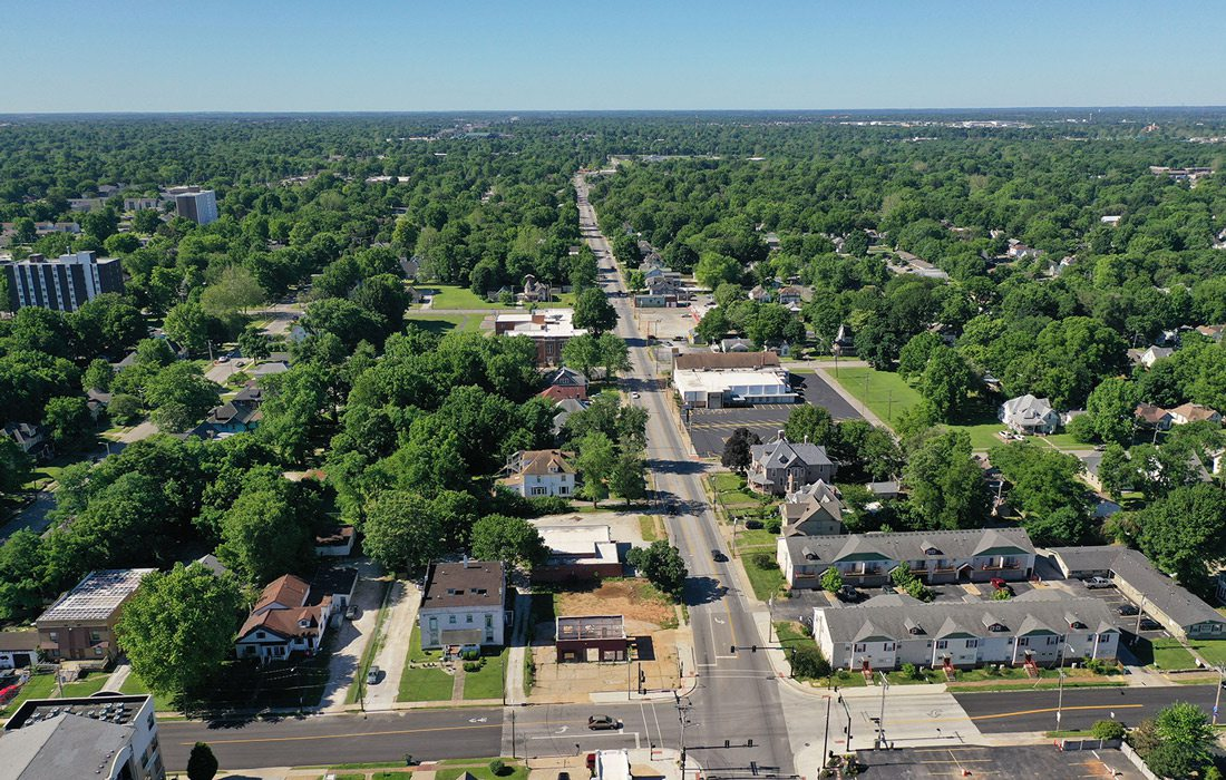 Grant Ave. Parkway aerial photo