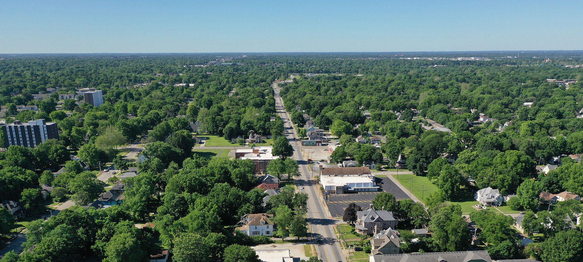 Grant Parkway Avenue aerial photo