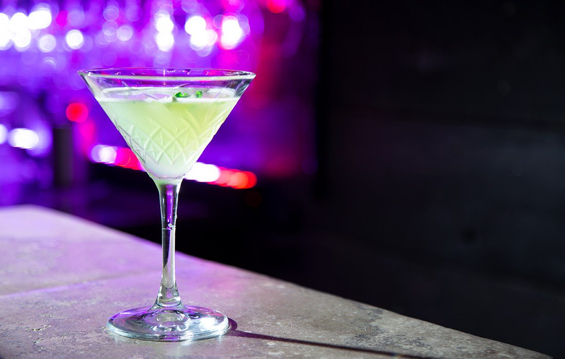 Green is the New Black cocktail