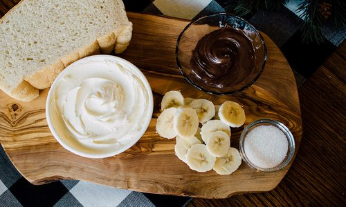 banana nutella grilled cheese