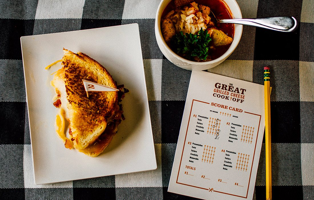 Grilled cheese and cook-off score card