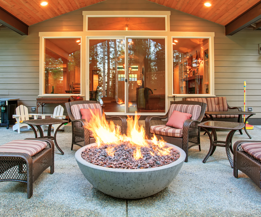Fire pits are perfect for a relaxing night in the backyard.