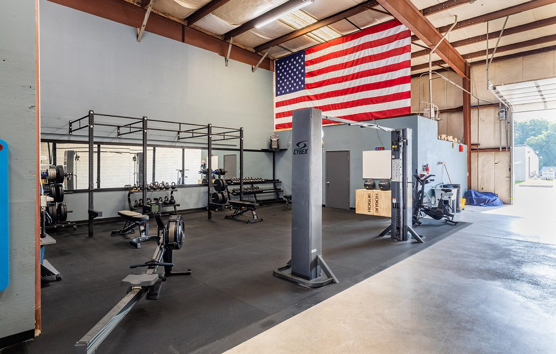 Fitness room designed by Grooms