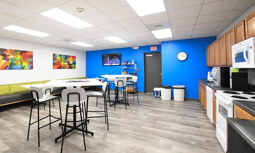 Breakroom designed by Grooms Office Environments
