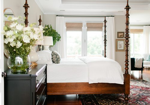 Light and airy bedroom design