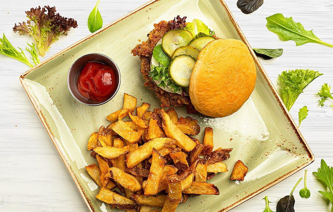 Jake's Vegan Burger at Farmers Gastropub in Springfield MO