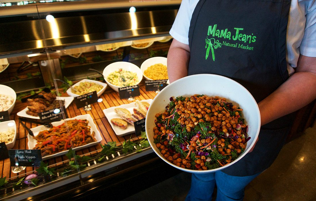 Lunch option at MaMa Jean's Natural Market