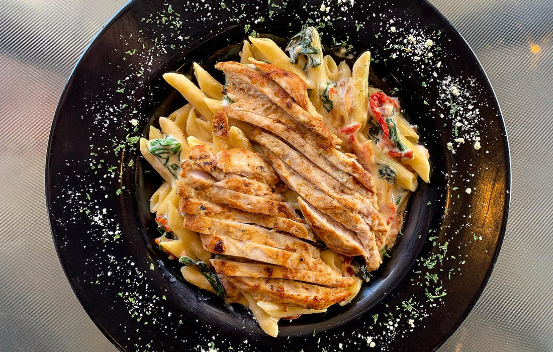 Pasta dish at Piccolo