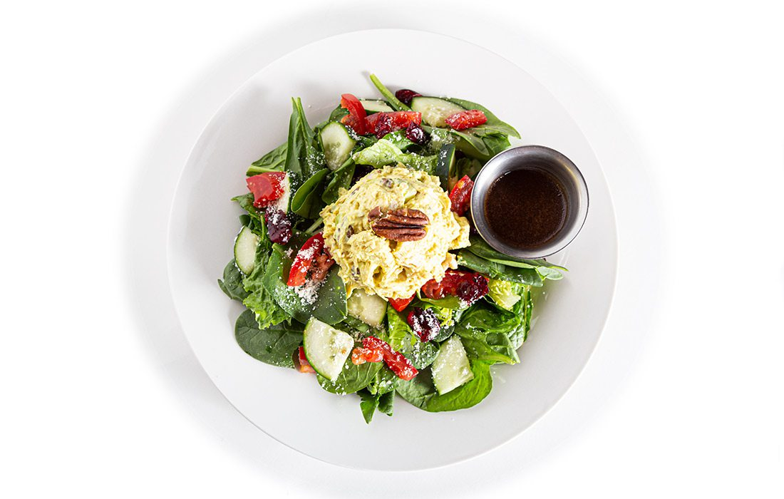 Curried Chicken Salad on Greens at Tea Bar & Bites in Springfield MO