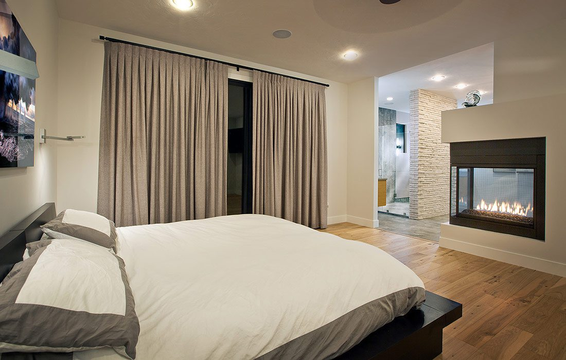 Less than $500,000 Homes of the Year Winner Modern Fortress Home Master Bedroom