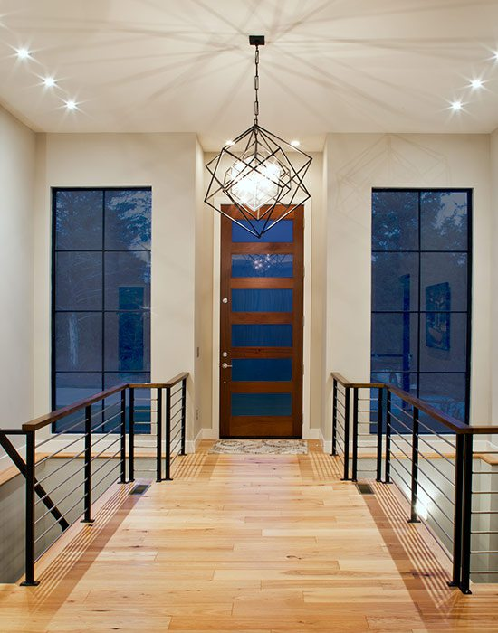 Less than $500,000 Homes of the Year Winner Modern Fortress Home Entryway