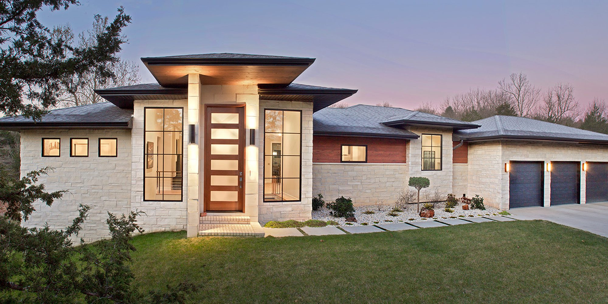 Less than $500,000 Homes of the Year Winner Modern Fortress Home Exterior