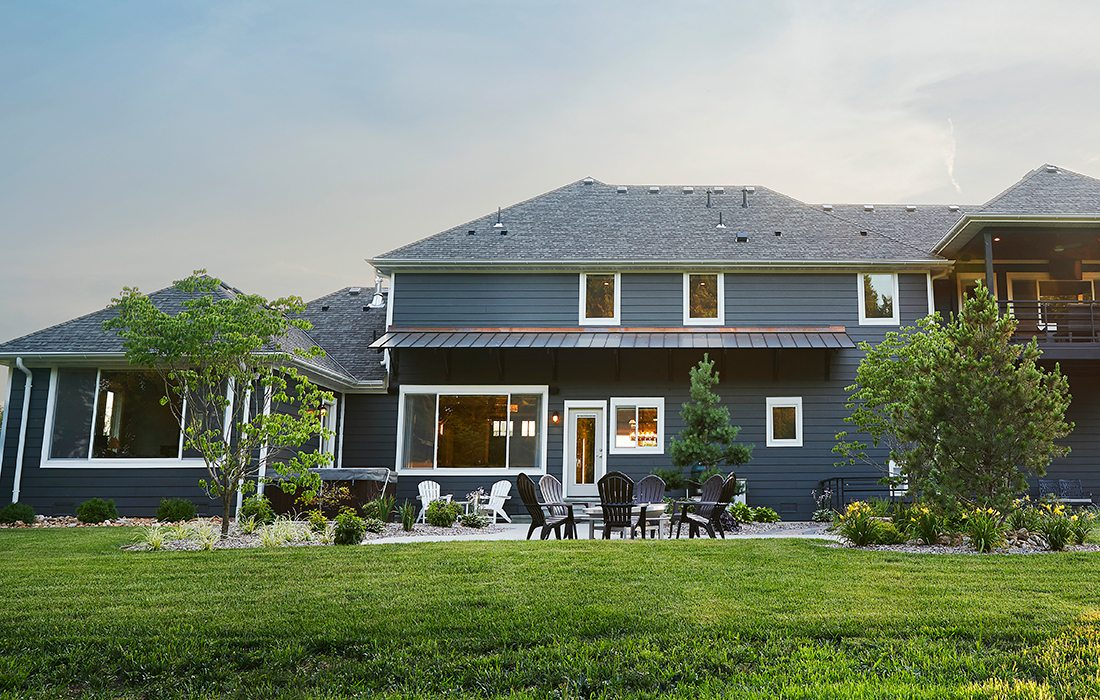 $500,000-$750,000 Homes of the Year Winner Timeless American Home Backyard