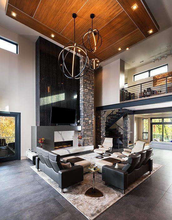 $1 Million Dollar Plus Home of the Year Winner Modern Home Livingroom