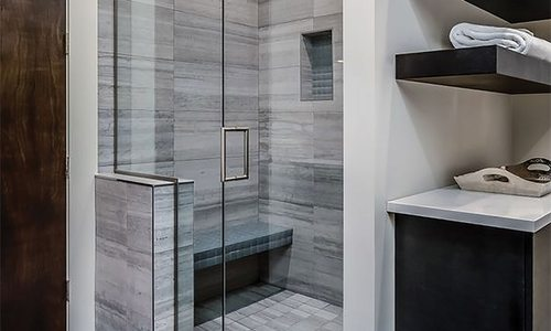 Glass shower door by American Glass in Springfield MO