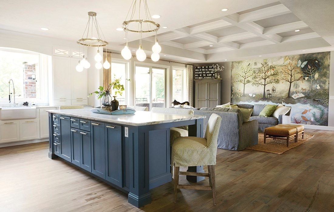 $750,000 to $1 Million 2015 Homes of the Year Winner - Kitchen and Living Room