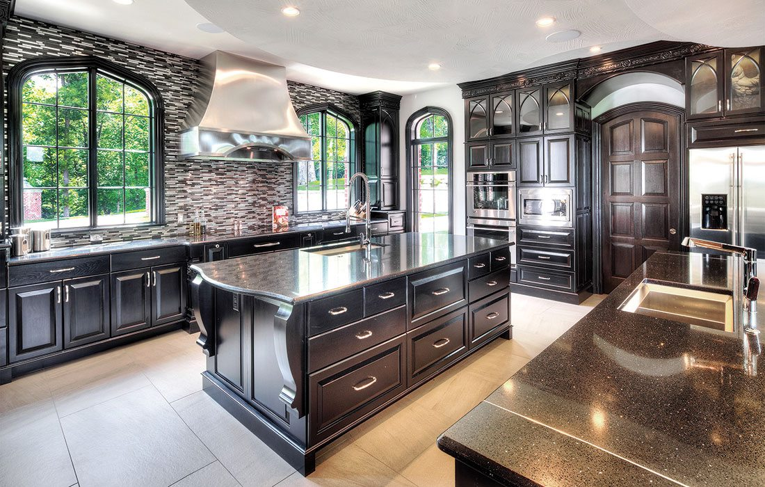 black and white gothic kitchen design