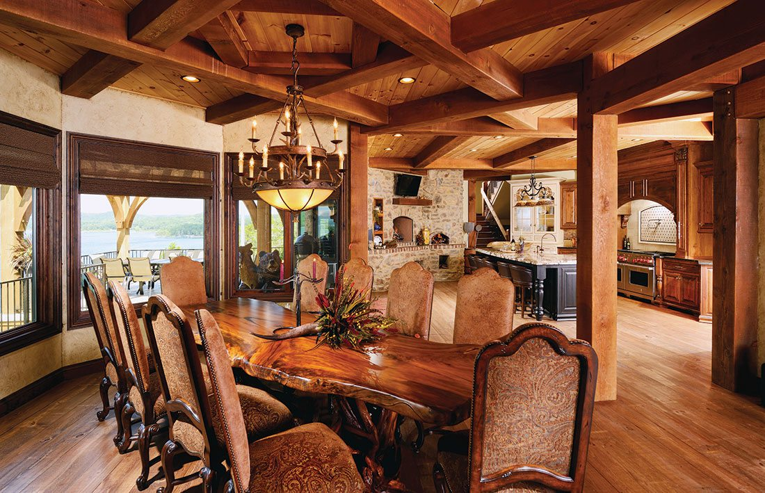 custom woodwork in home