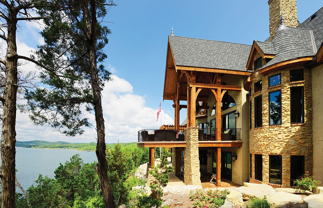 home exterior overlooking lake