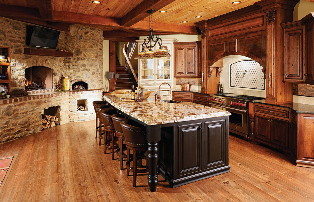old world rustic kitchen design