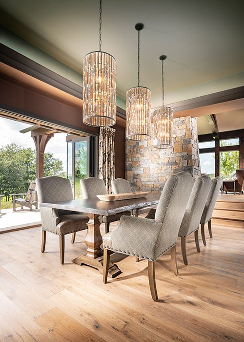 Dining room of the $1 million Home of the Year winner in southwest Missouri