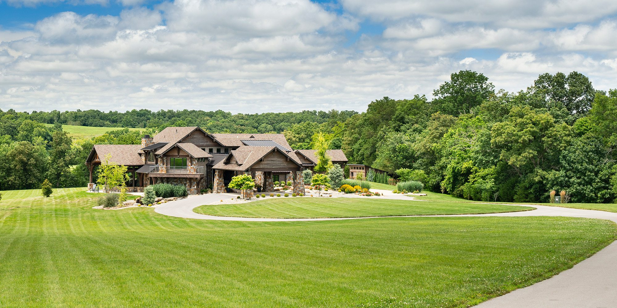 Exterior of the $1 million Home of the Year winner in southwest Missouri