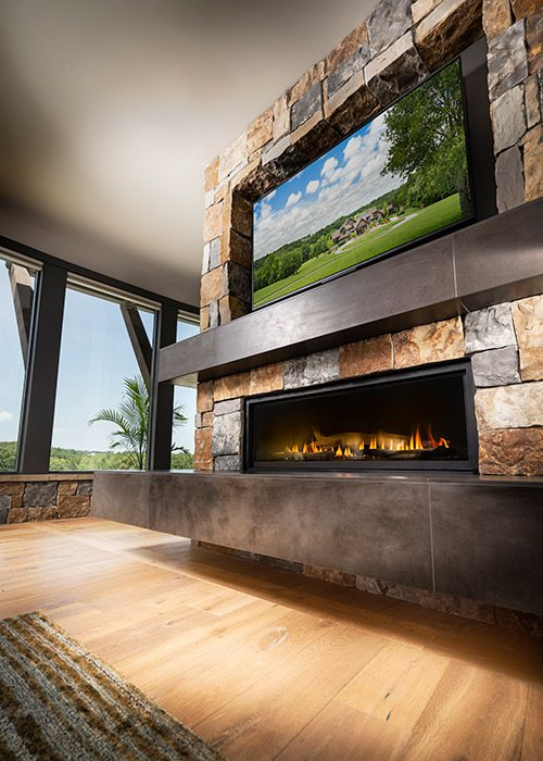 Fireplace of the $1 million Home of the Year winner in southwest Missouri