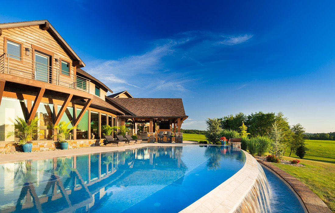 Pool of the $1 million Home of the Year winner in southwest Missouri