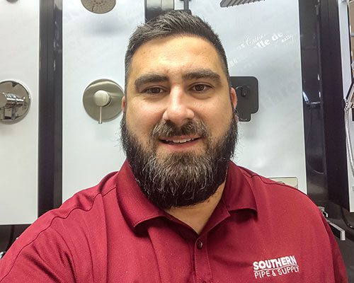 Eric A. Kitchens is a regional showroom manager for Southern Pipe & Supply Co., Inc.