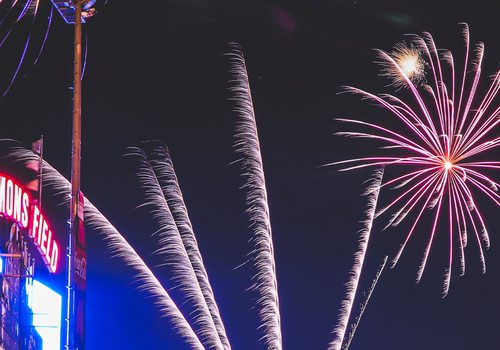 Fireworks over Hammons Field