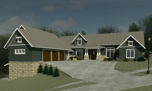 Springfield MO home rendering by Joan Hand of Hand Architecture