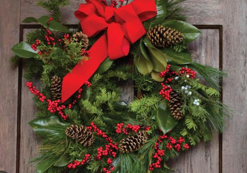 Wreath making in Springfield, MO