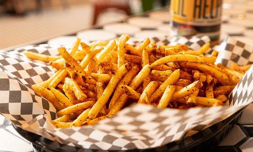 Fries at Hard Knox BBQ