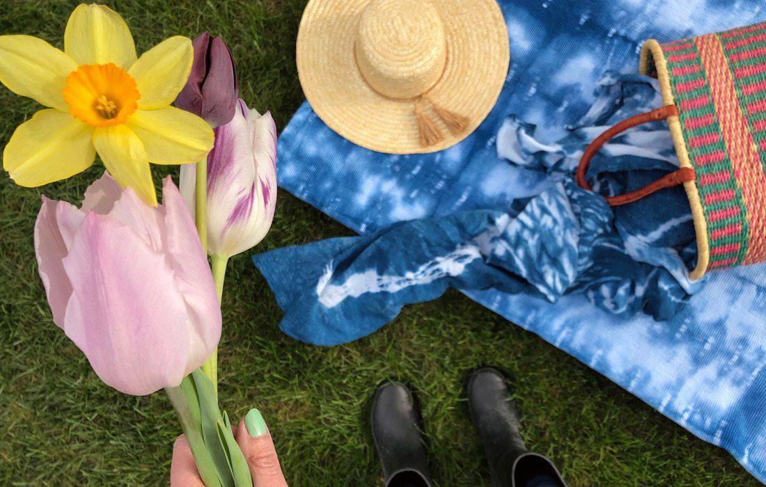 Heather Kane daffodil and dye photo