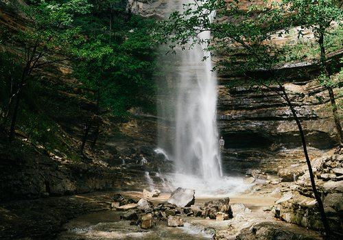 Hemmed In Hollow Waterfall in Northwest Arkansas