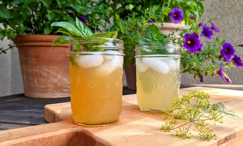 Herb infused cocktails from Creekside Mixers