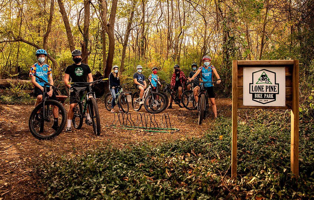 Kids who created Lone Pine Bike Park in Springfield MO