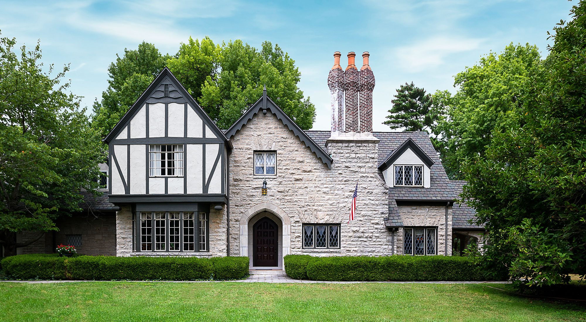 Historic chimney tudor home in Springfield, MO