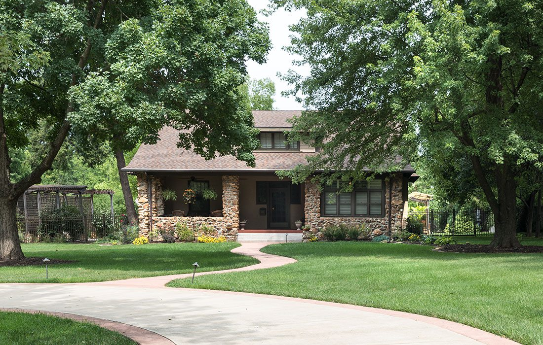 arts-and-craft style historic home on Meadowmere in springfield missouri