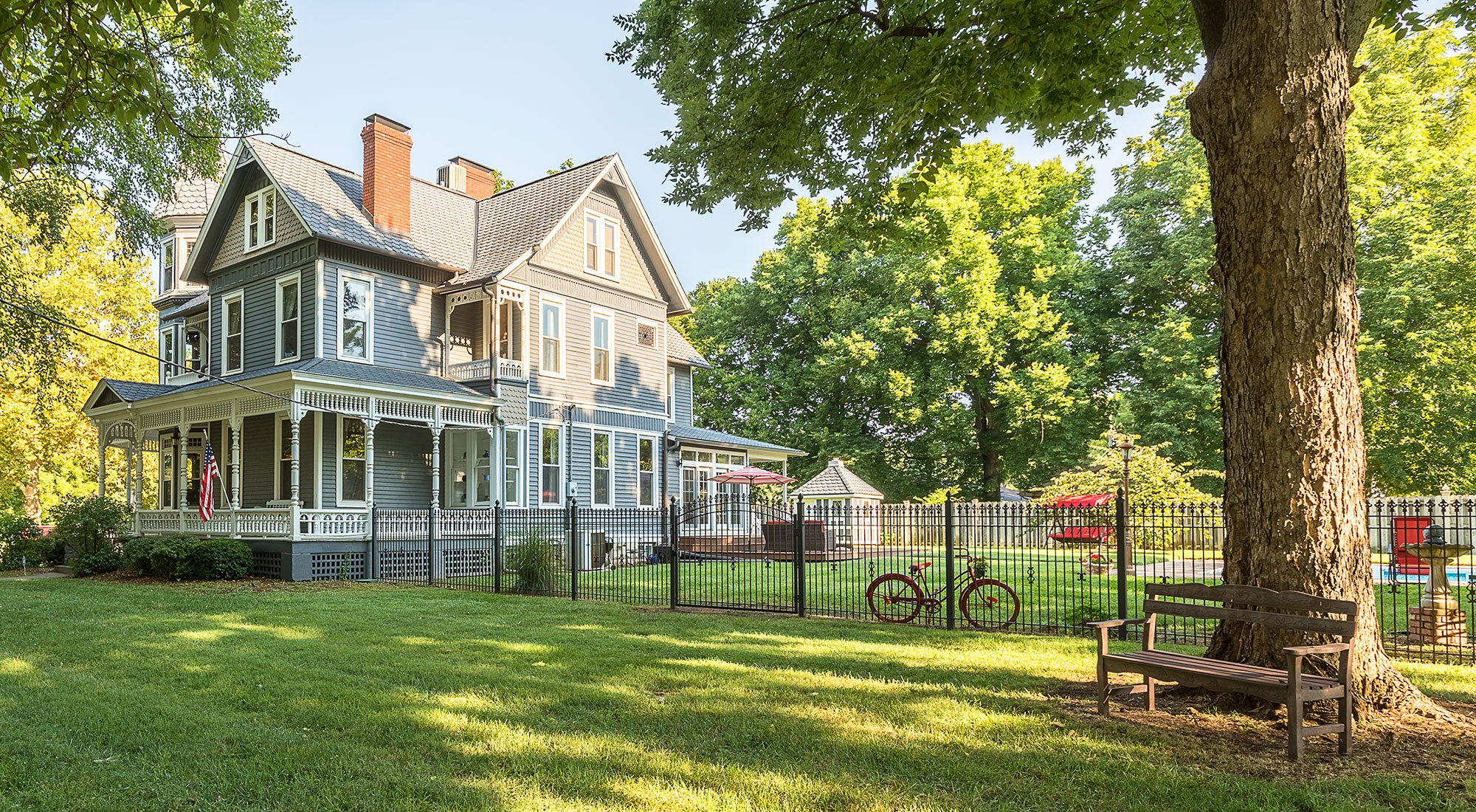 Historic Victorian home in Springfield, MO on Walnut Street