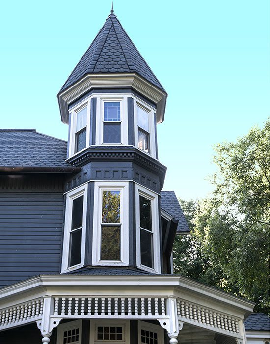turret on victorian style home